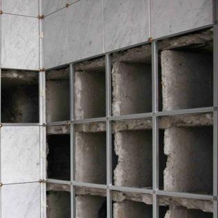 REipristino parete ossari pericolante